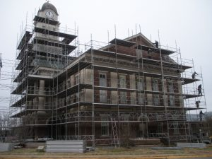 Scaffolding project at Chatham County Courthouse in North Carolina
