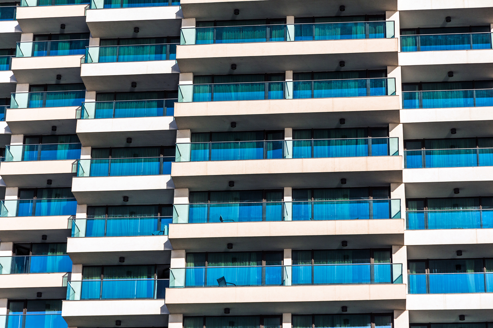 high rise hotel with balconies